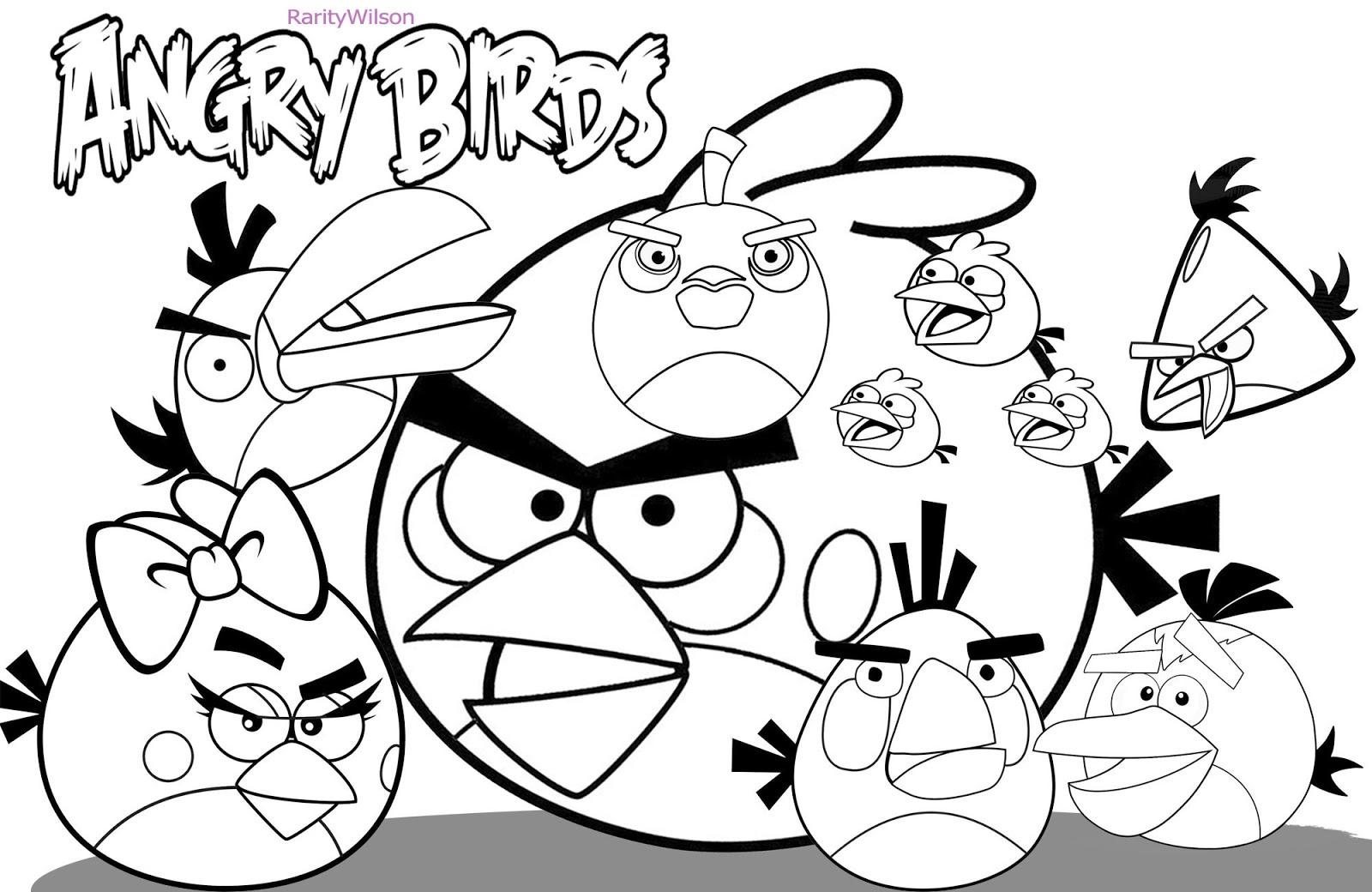 126 dibujos de Angry birds para colorear  Oh Kids  Page 1