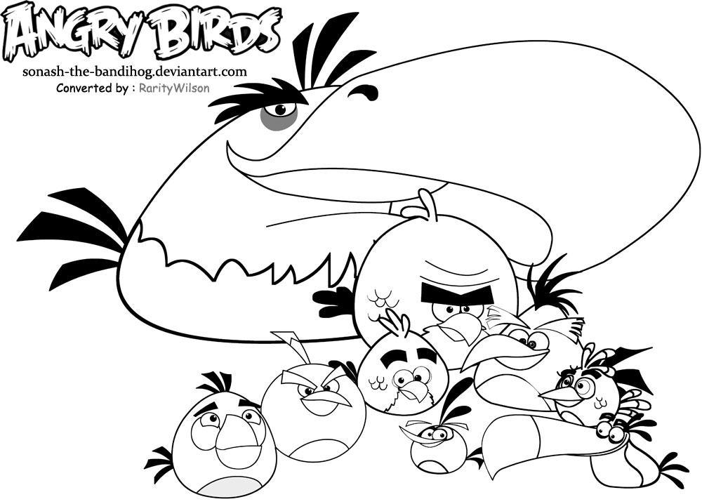 126 dibujos de Angry birds para colorear  Oh Kids  Page 5