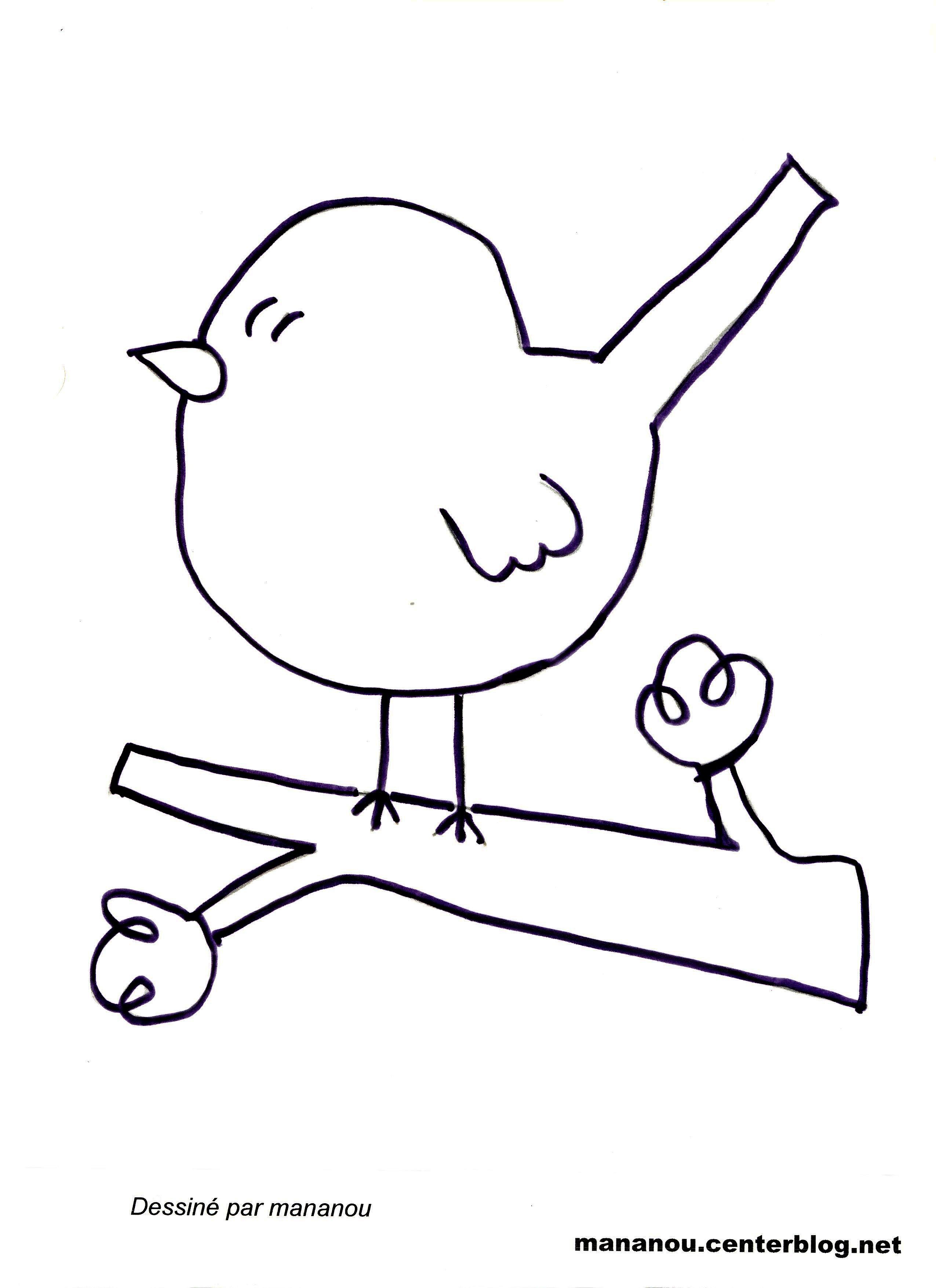 119 dibujos de aves para colorear oh kids page 7 - Dessiner un oiseau en maternelle ...