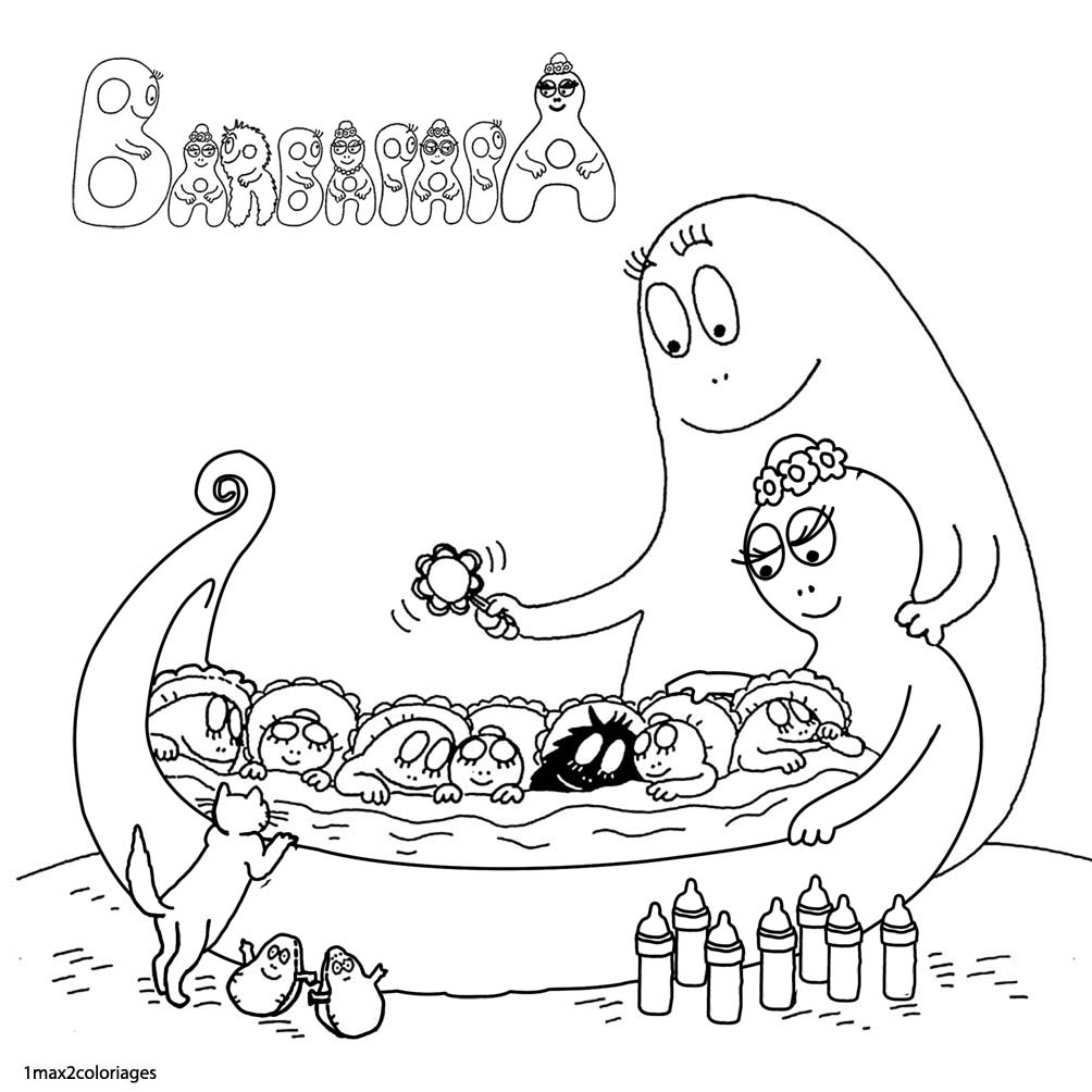 108 dibujos de Barbapapa para colorear   Oh Kids   Page 9