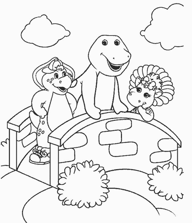 135 dibujos de Barney para colorear   Oh Kids   Page 5