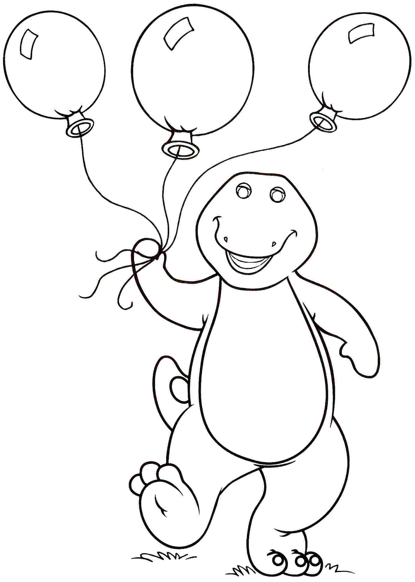 135 Dibujos De Barney Para Colorear Oh Kids Page 12
