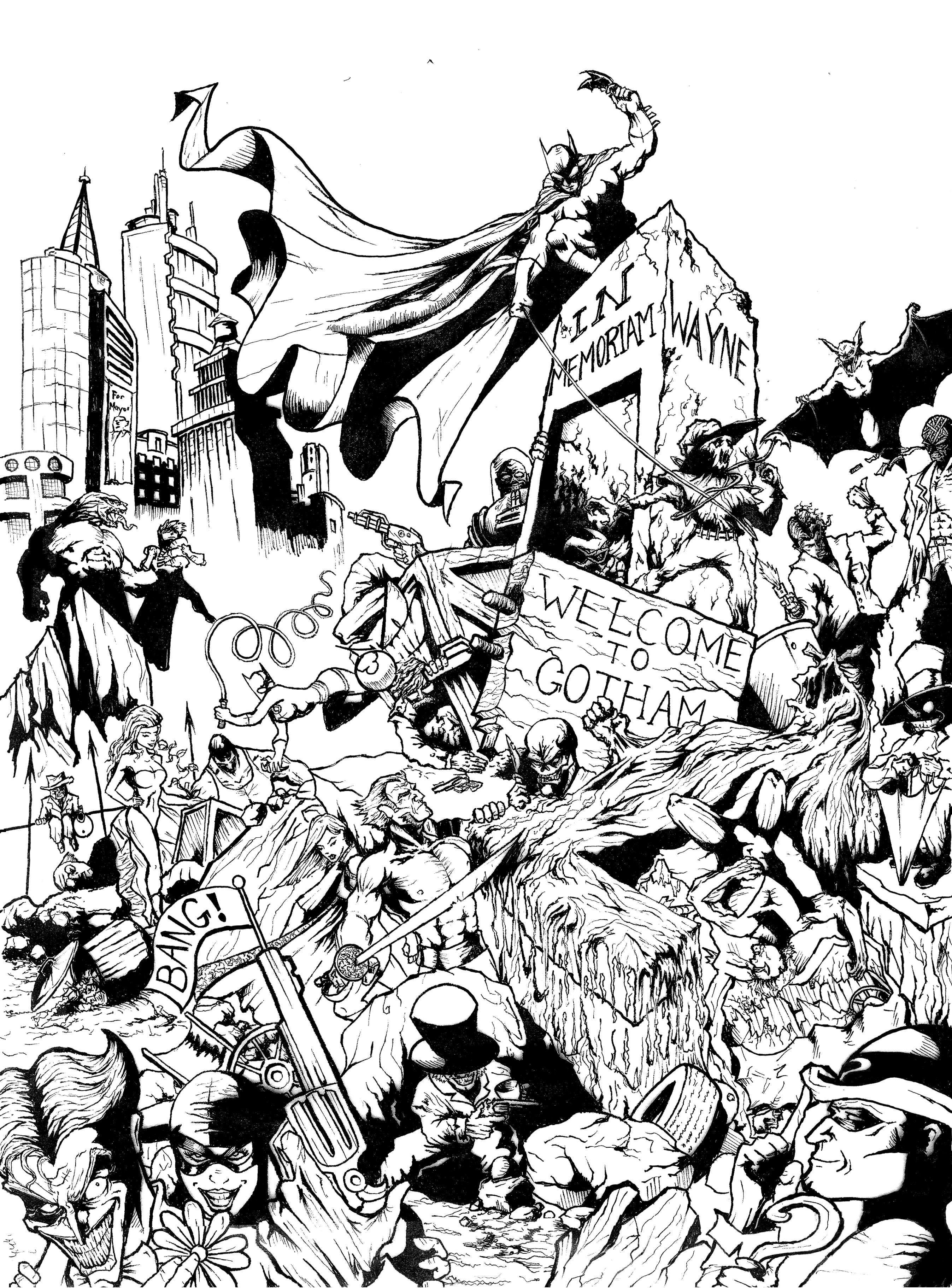 310 dibujos de Batman para colorear | Oh Kids | Page 21
