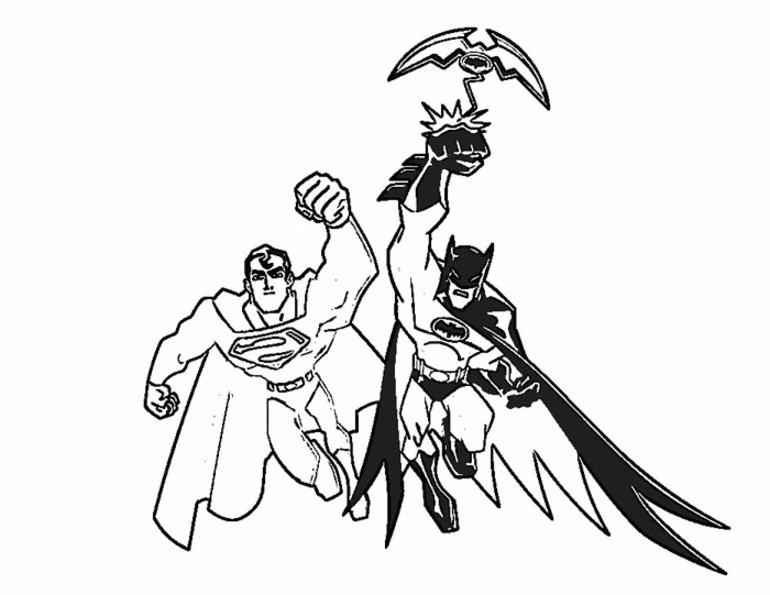 Dibujos Para Colorear Batman Y Spiderman Dibujos Para Colorear De