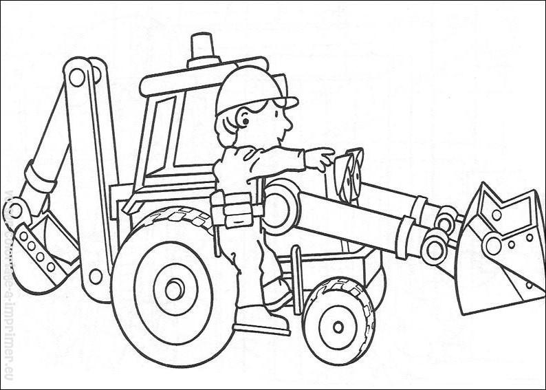 97 dibujos de Bob el constructor para colorear | Oh Kids | Page 7