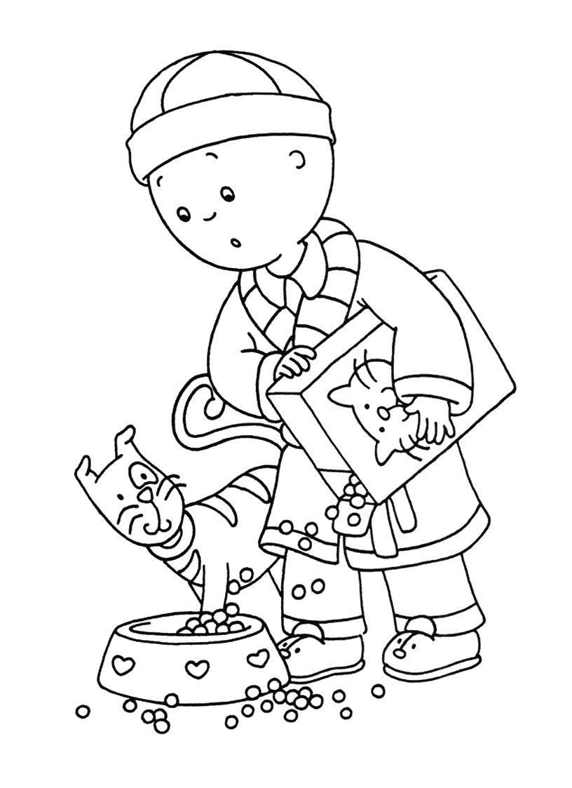 115 dibujos de Caillou para colorear | Oh Kids | Page 7