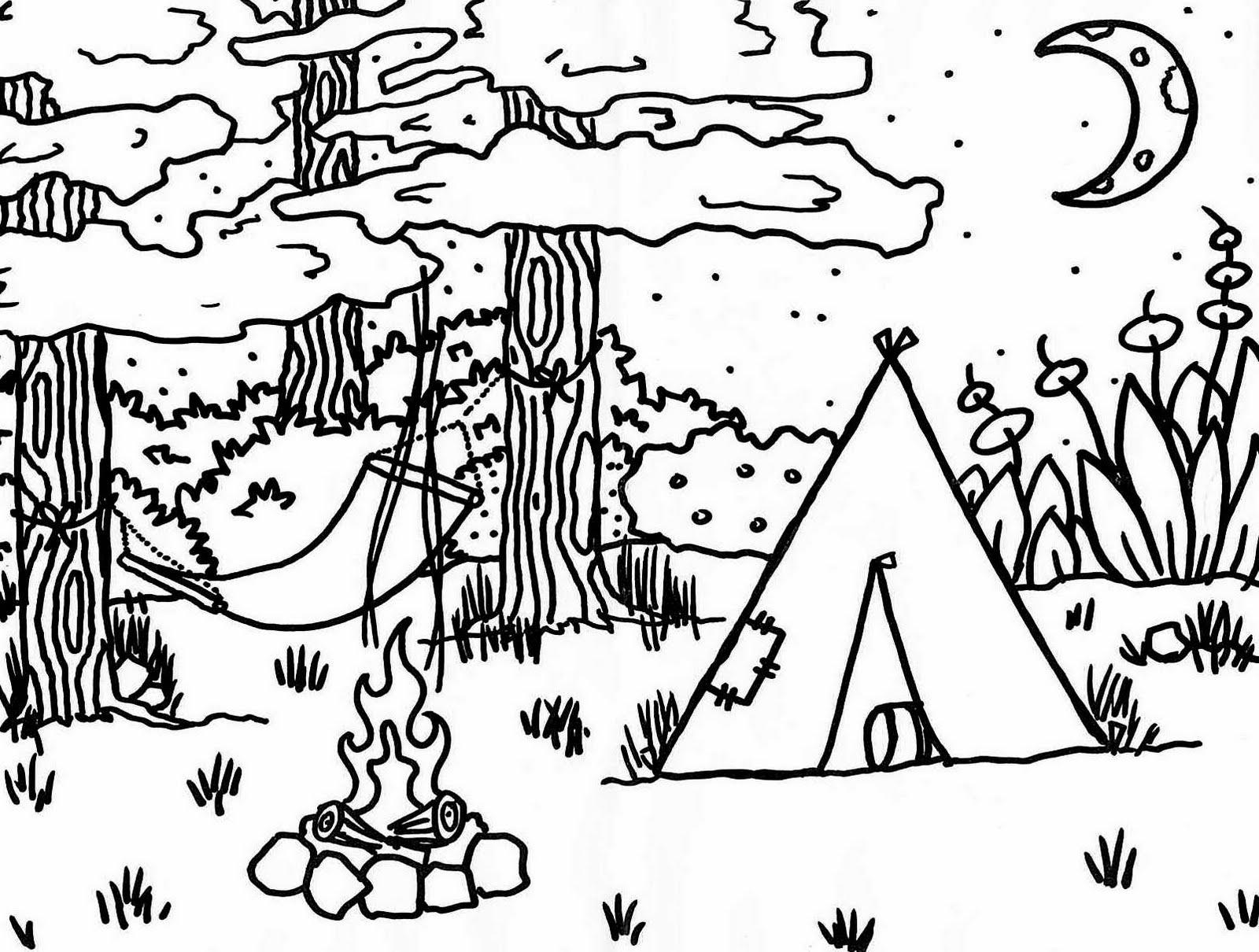 50 dibujos de Campamento para colorear | Oh Kids | Page 1