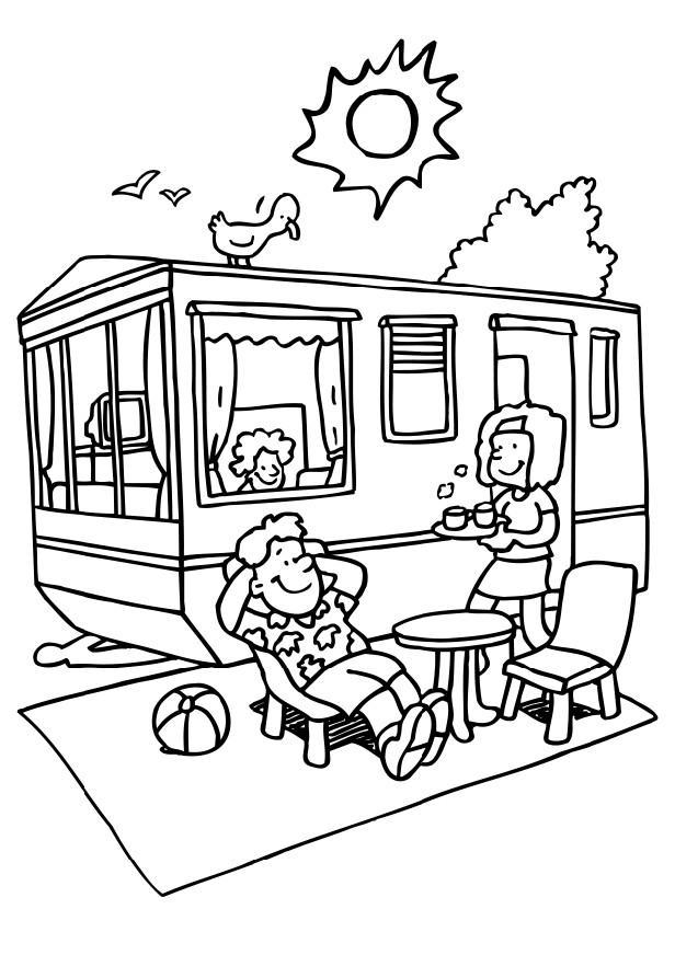 50 dibujos de Campamento para colorear | Oh Kids | Page 3