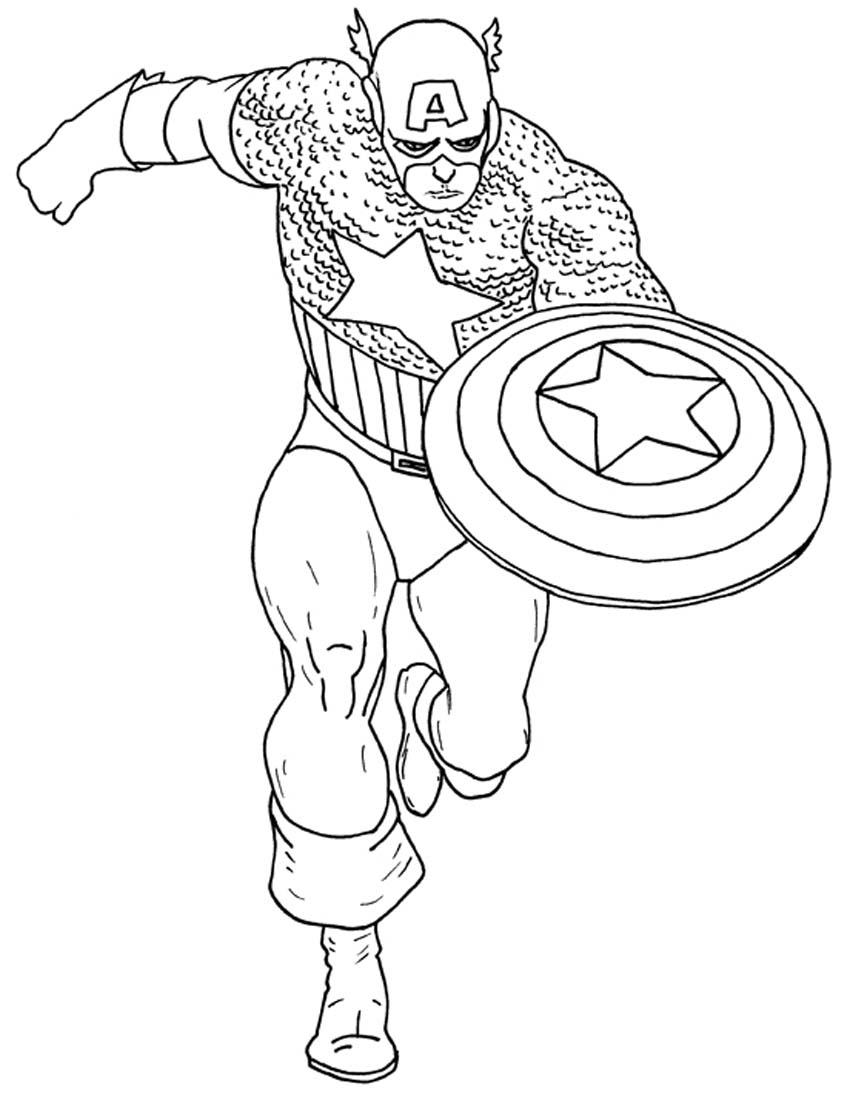 156 dibujos de Capitán américa para colorear | Oh Kids | Page 3