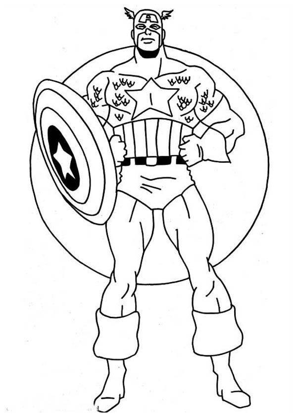 Superhelden Avengers Ausmalbilder: 156 Dibujos De Capitán América Para Colorear