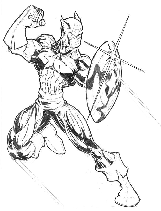 Dibujos De Capitán América Para Colorear En Colorear Net