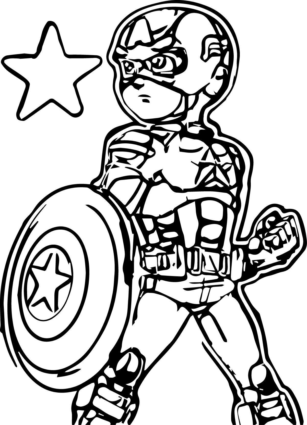 156 dibujos de Capitán américa para colorear | Oh Kids | Page 8
