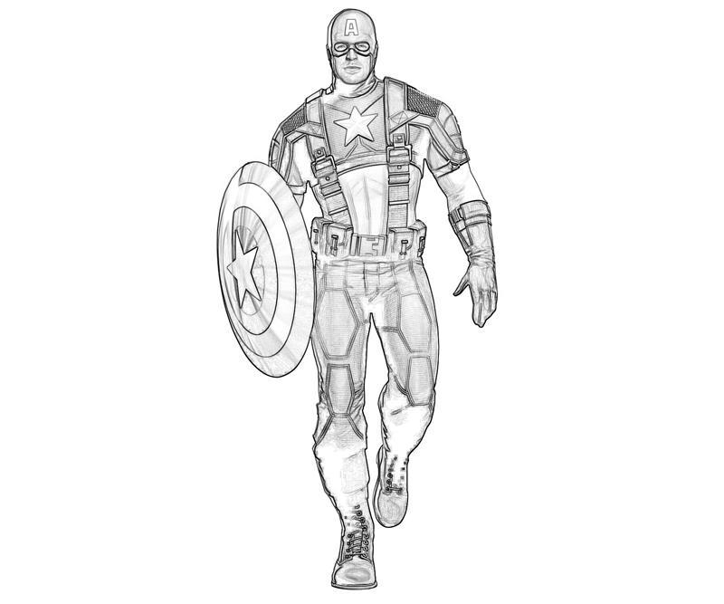 156 Dibujos De Capitán América Para Colorear Oh Kids Page 10