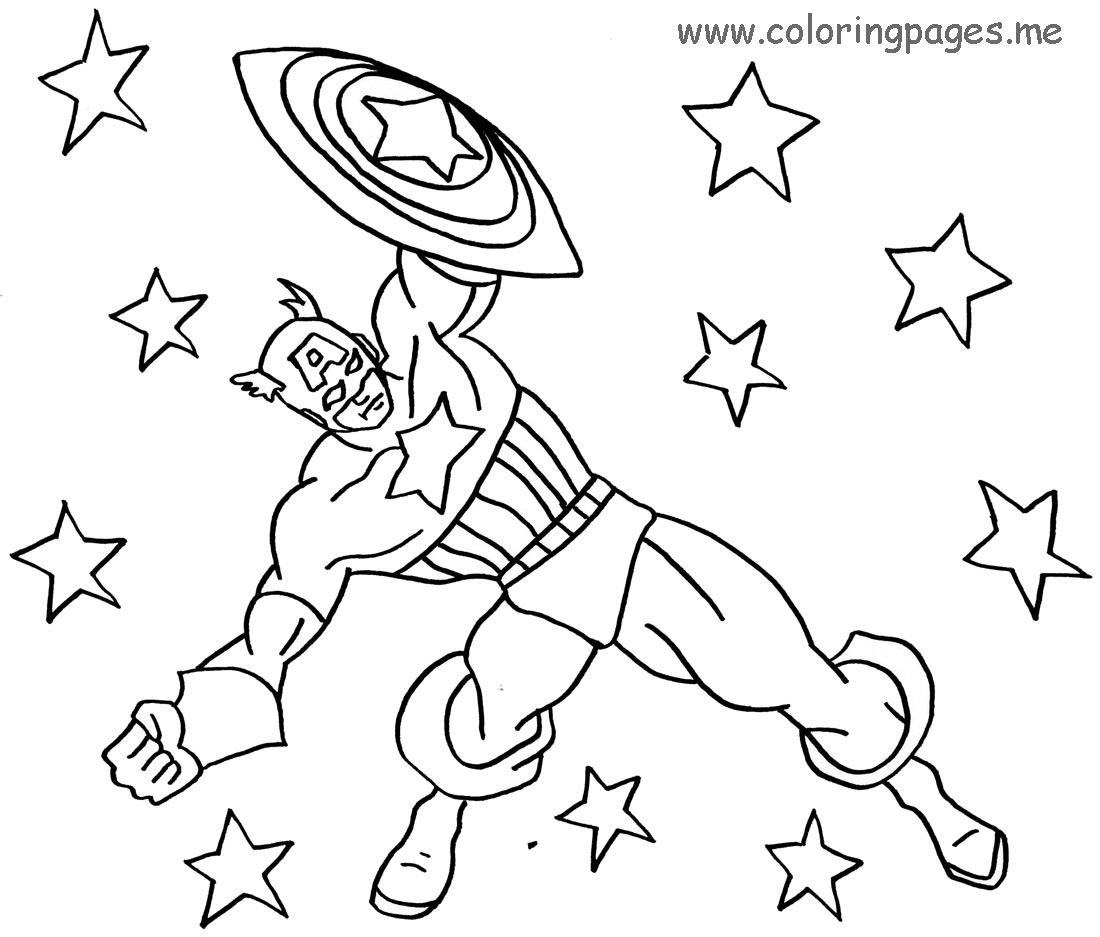 156 dibujos de Capitn amrica para colorear  Oh Kids  Page 11