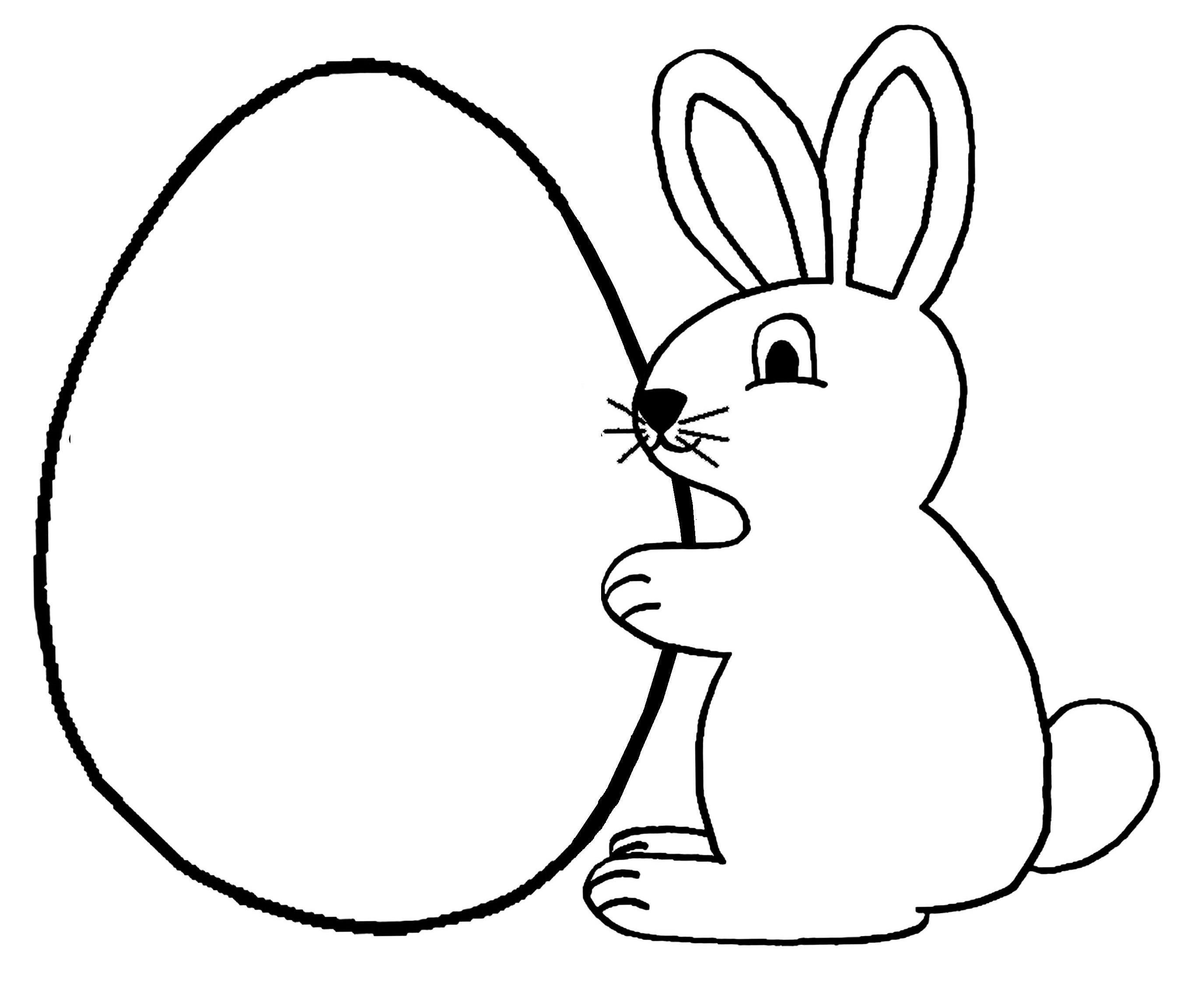 128 Dibujos De Conejos Para Colorear