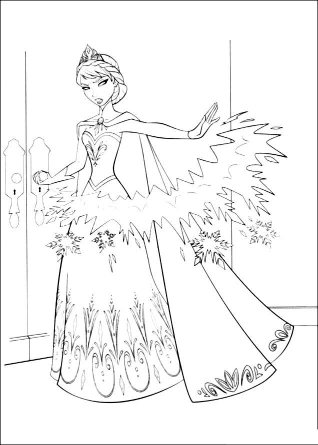 144 Dibujos De Disney Frozen Para Colorear Oh Kids Page 1e
