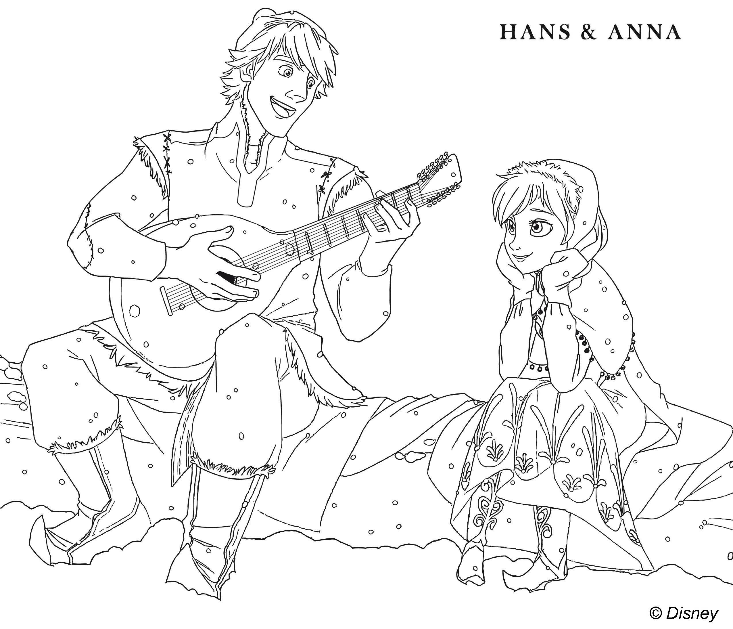 144 dibujos de Disney frozen para colorear | Oh Kids | Page 7e