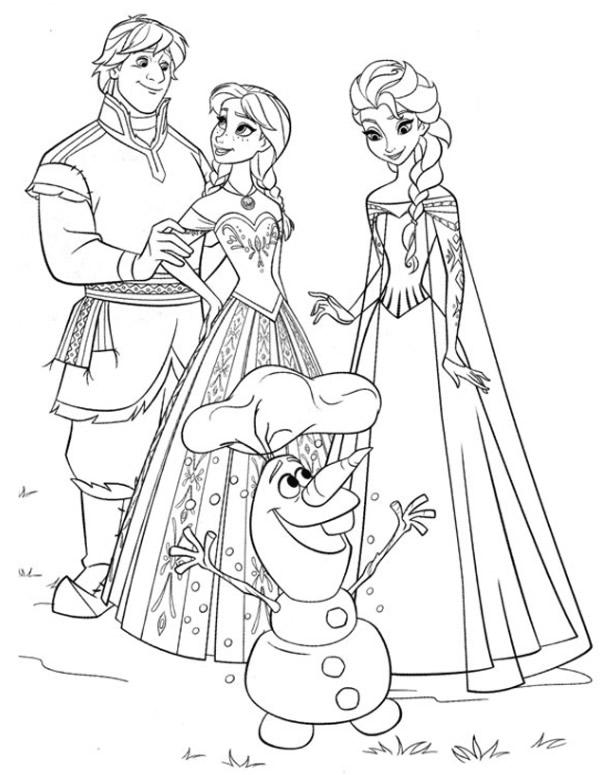 144 dibujos de Disney frozen para colorear   Oh Kids   Page 13e