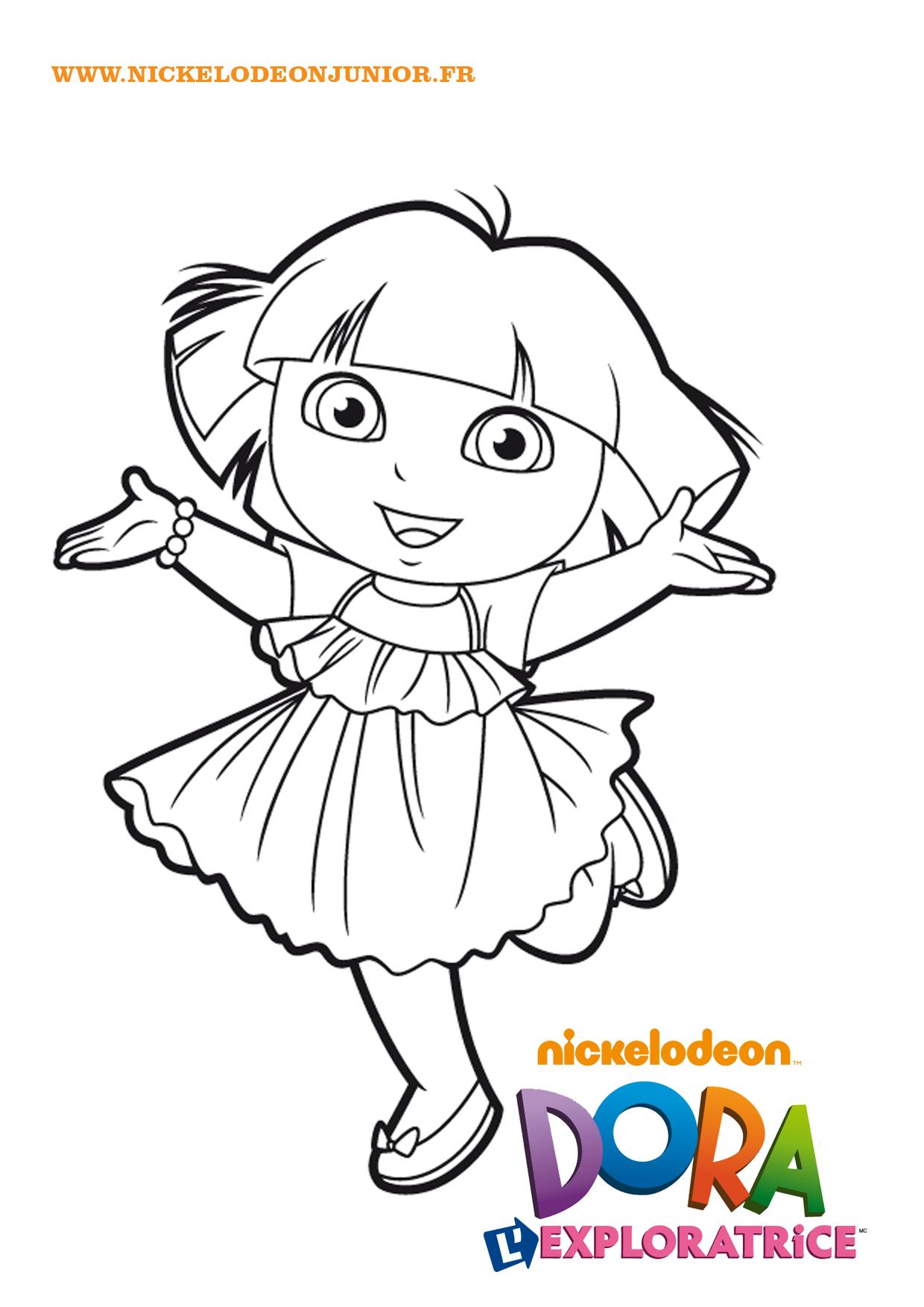 Lujo Dora Para Colorear Festooning - Dibujos Para Colorear En Línea ...