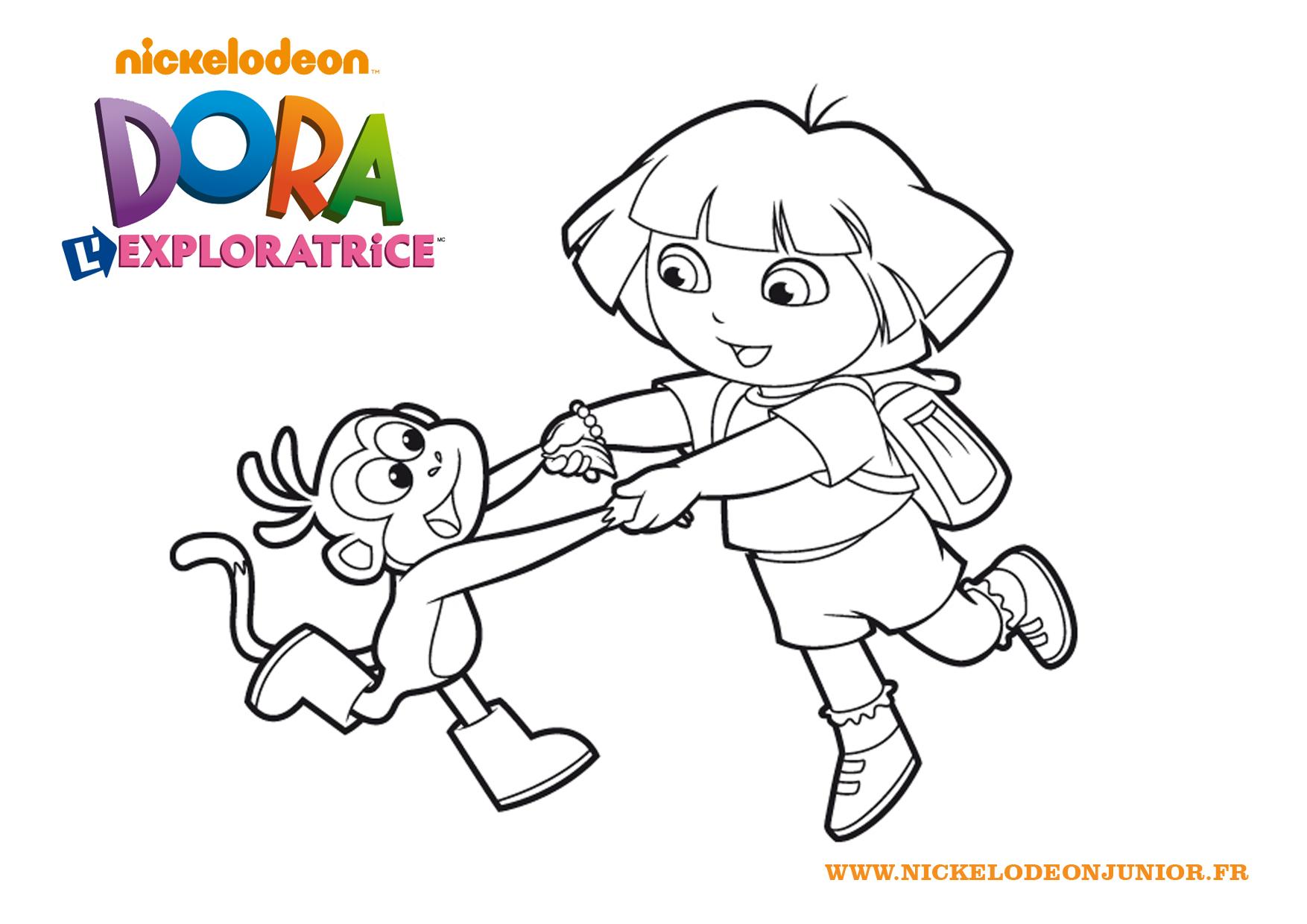 130 dibujos de Dora para colorear | Oh Kids | Page 1