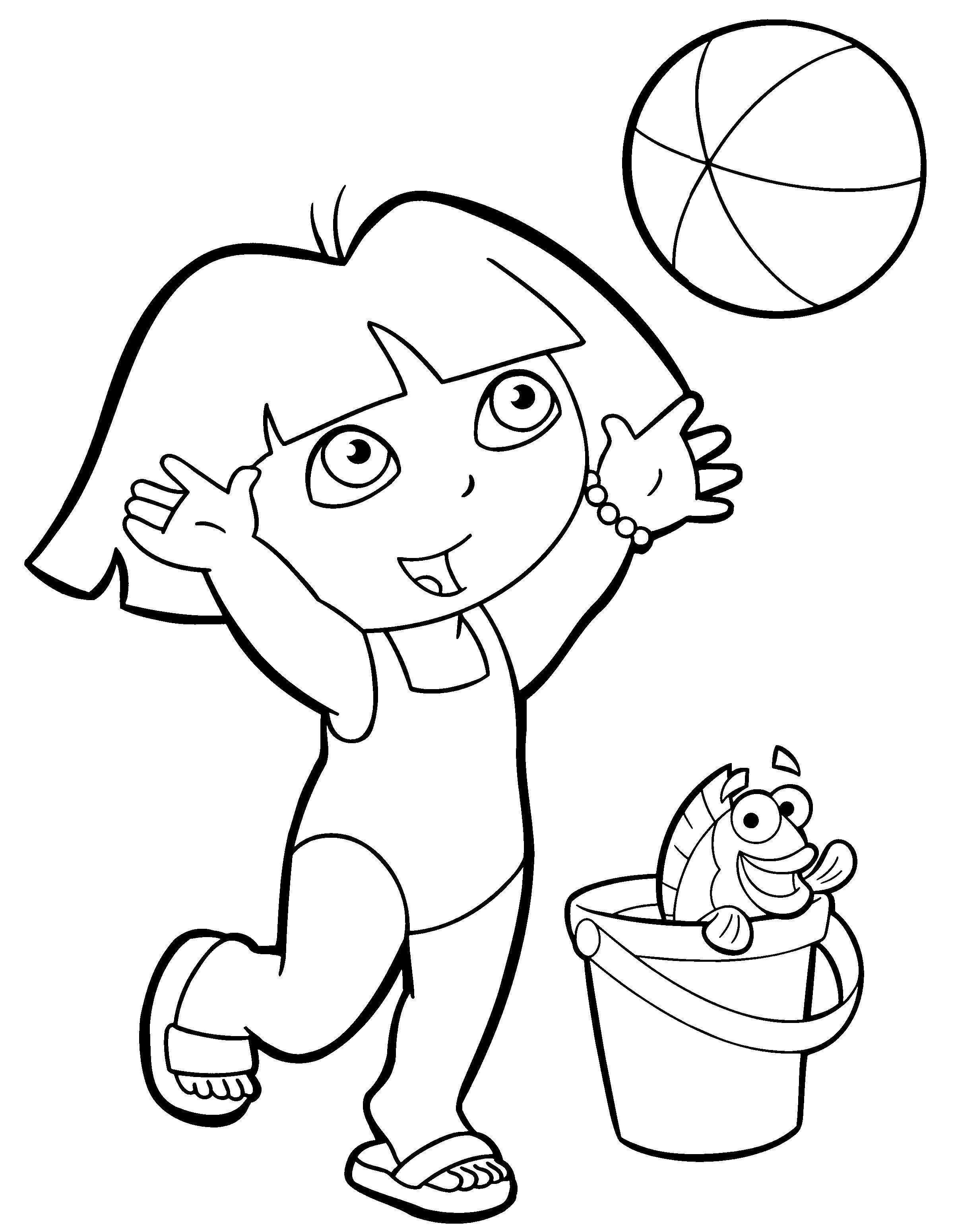 130 dibujos de Dora para colorear | Oh Kids | Page 2