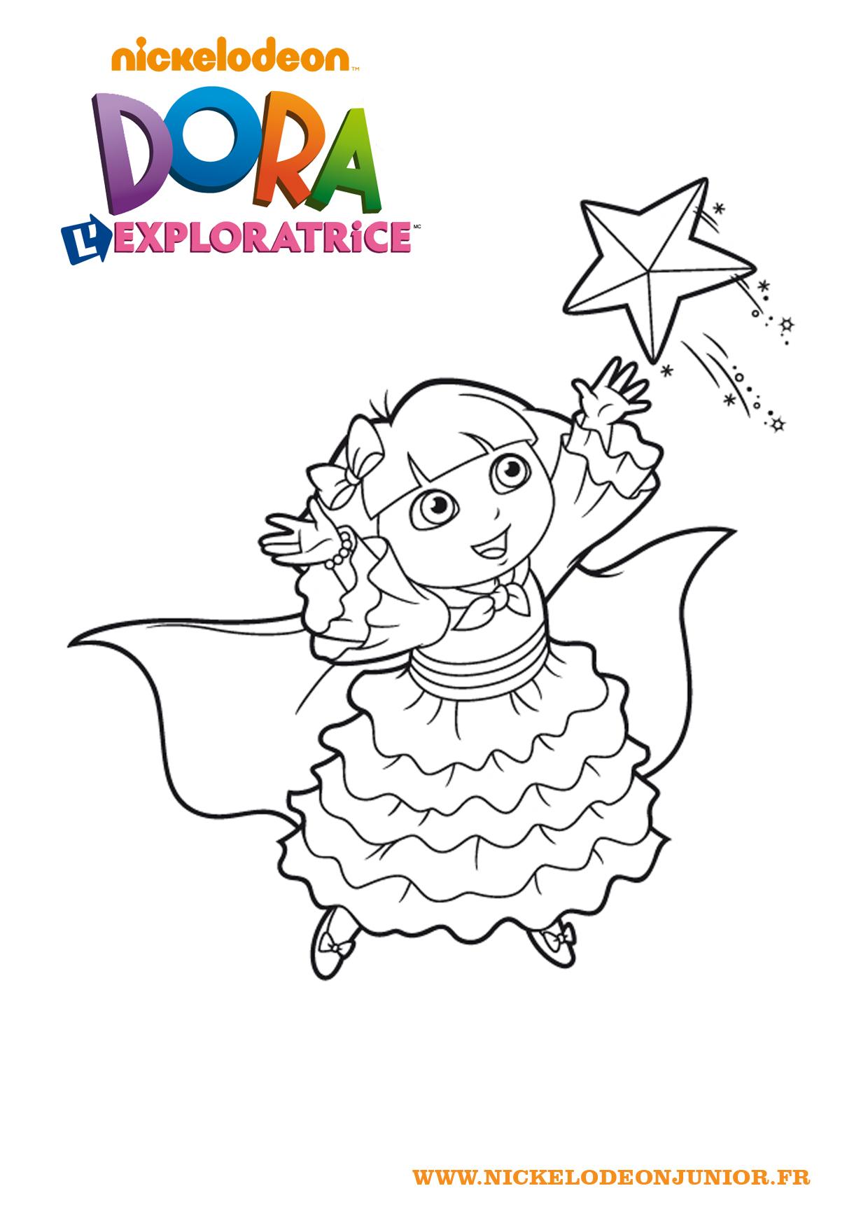 Increíble Dibujos Para Colorear Gratis Dora Ornamento - Dibujos Para ...