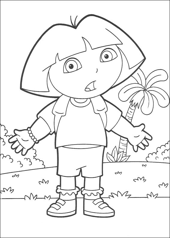 130 dibujos de Dora para colorear | Oh Kids | Page 6