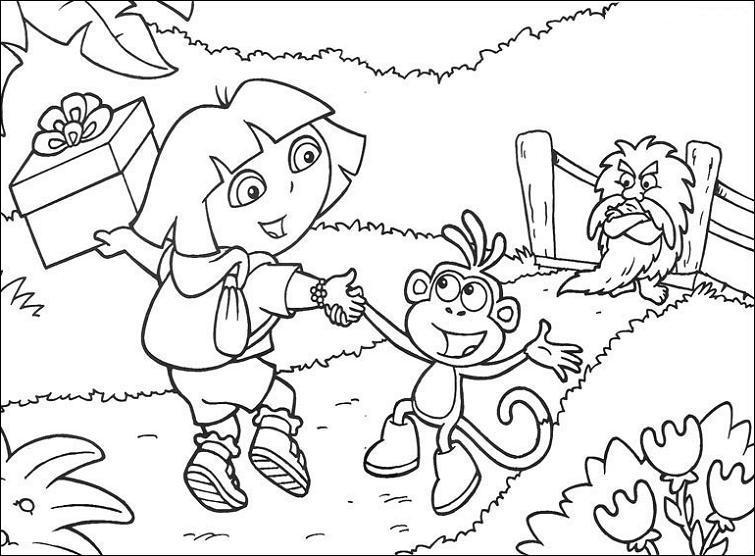 130 dibujos de Dora para colorear | Oh Kids | Page 13