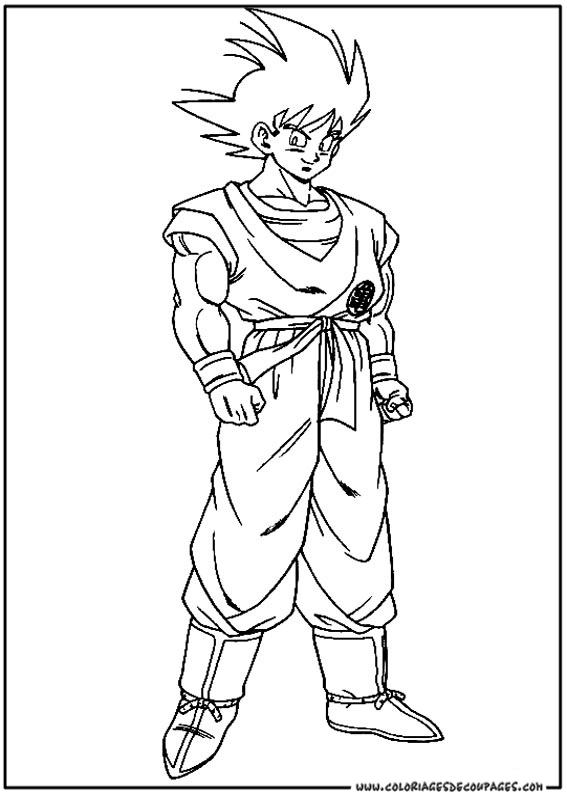 Dibujo muy facil dragon ball z para colorear gratis