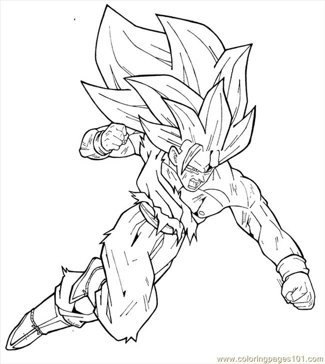 Dragon ball Z para colorear gratis