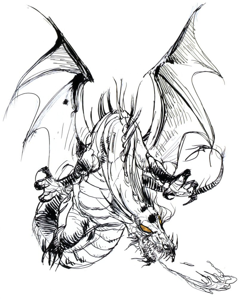 157 dibujos de dragones para colorear oh kids page 1 - Dessins dragon ...