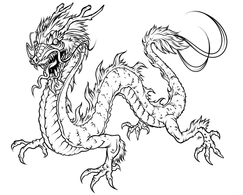 Dibujos Para Colorear De Chicos: 157 Dibujos De Dragones Para Colorear