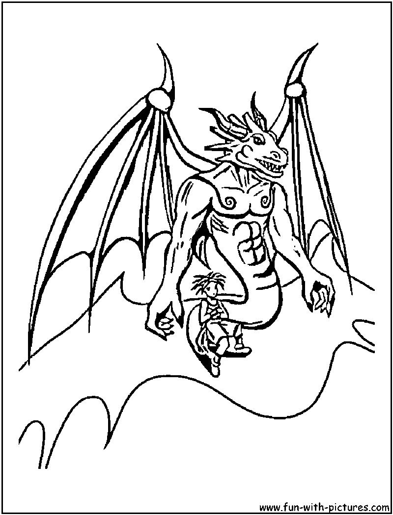 Lujoso Página Para Colorear Dragón Barbudo Cresta - Dibujos Para ...