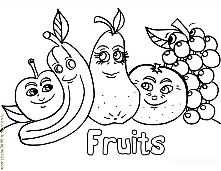 69 Dibujos De Frutas Para Colorear Oh Kids Page 1