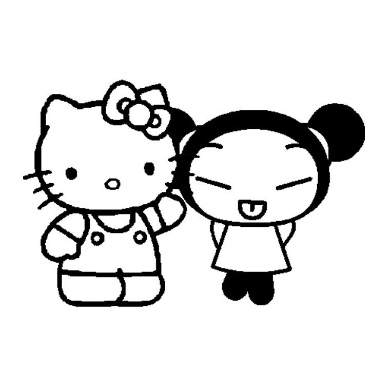 Dorable Cute Hello Kitty Para Colorear Fotos - Ideas Para Colorear ...