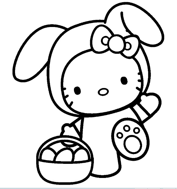147 dibujos de Hello kitty para colorear   Oh Kids   Page 10