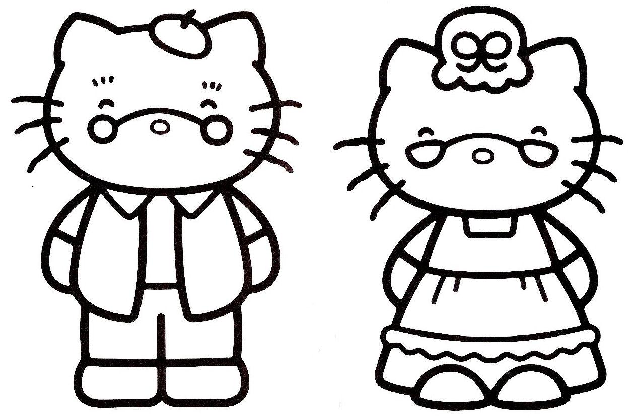 Magnífico Hello Kitty Para Colorear Imágenes Colección de Imágenes ...