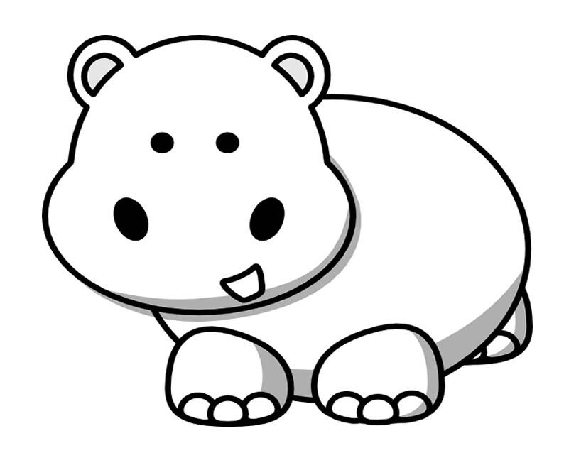 107 dibujos de Hipopótamos para colorear | Oh Kids | Page 1