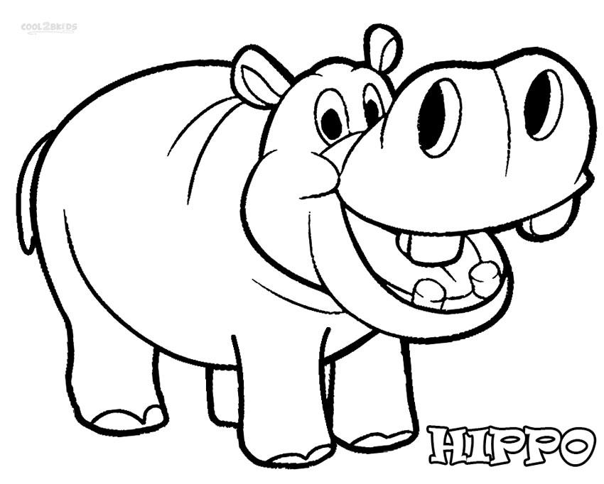 107 dibujos de Hipopótamos para colorear | Oh Kids | Page 6