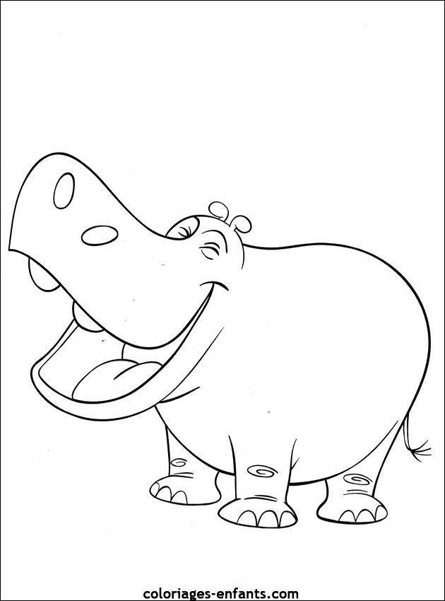 Excelente Hipopótamos Para Colorear Cresta - Dibujos Para Colorear ...