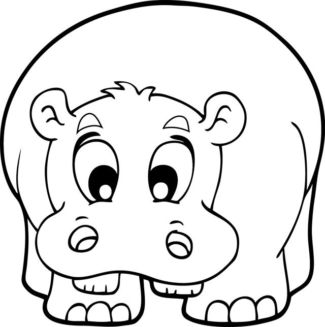 107 dibujos de Hipopótamos para colorear   Oh Kids   Page 11
