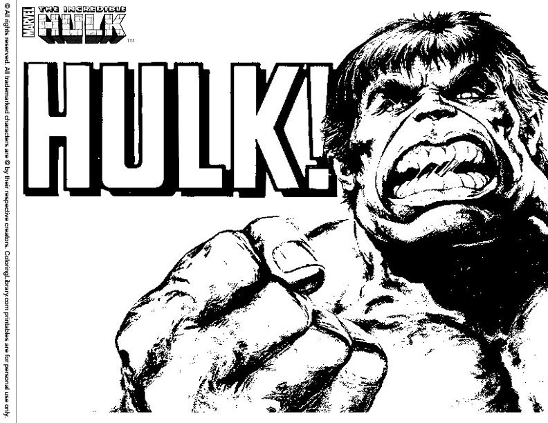 Hulk Dibujos Para Colorear: 223 Dibujos De Hulk Para Colorear