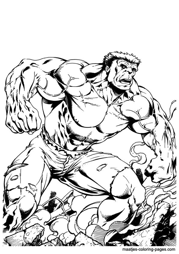 Dibujo Hulk Para Colorear