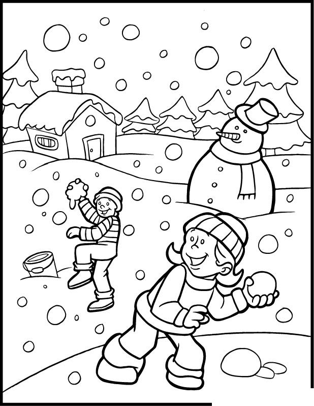 84 Dibujos De Invierno Para Colorear Oh Kids Page 7