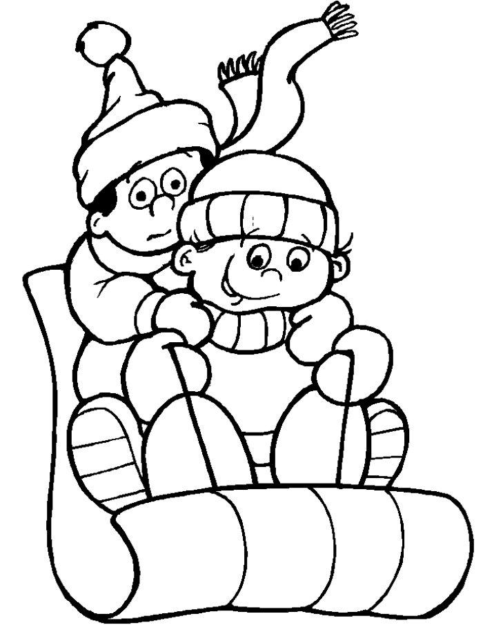 84 dibujos de Invierno para colorear | Oh Kids | Page 7