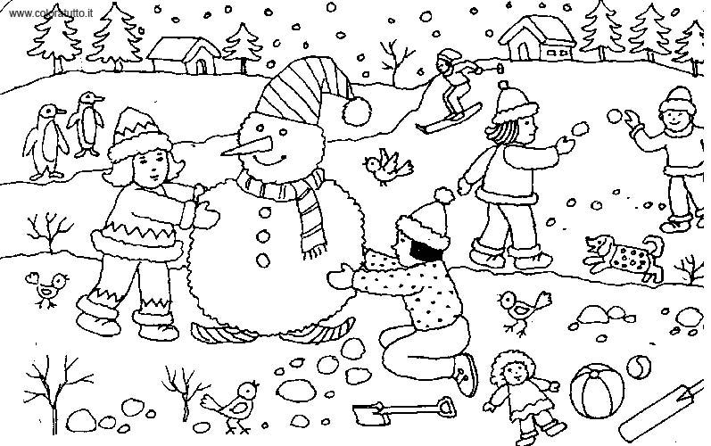 84 dibujos de Invierno para colorear | Oh Kids | Page 8