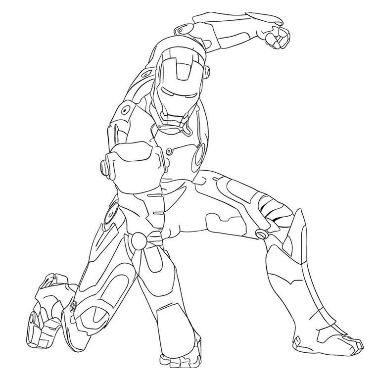 92 Dibujos De Iron Man Para Colorear Oh Kids Page 1