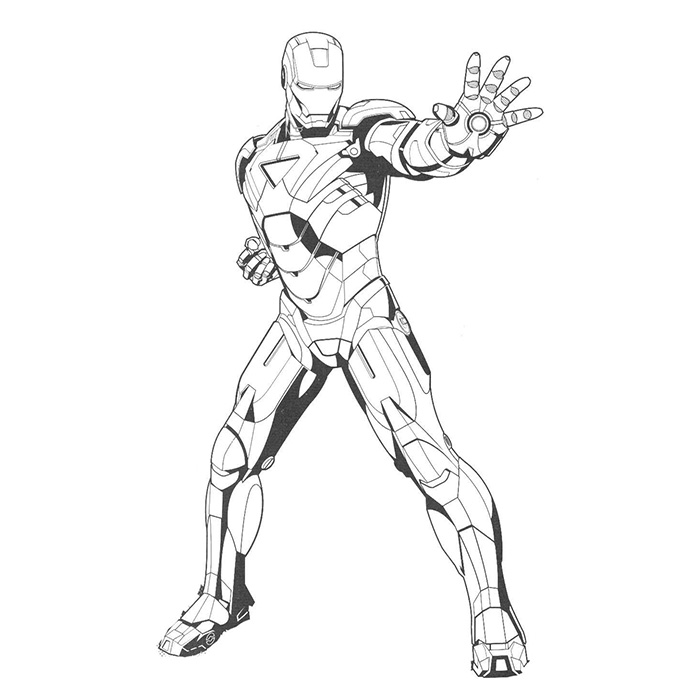 92 dibujos de Iron man para colorear | Oh Kids | Page 4