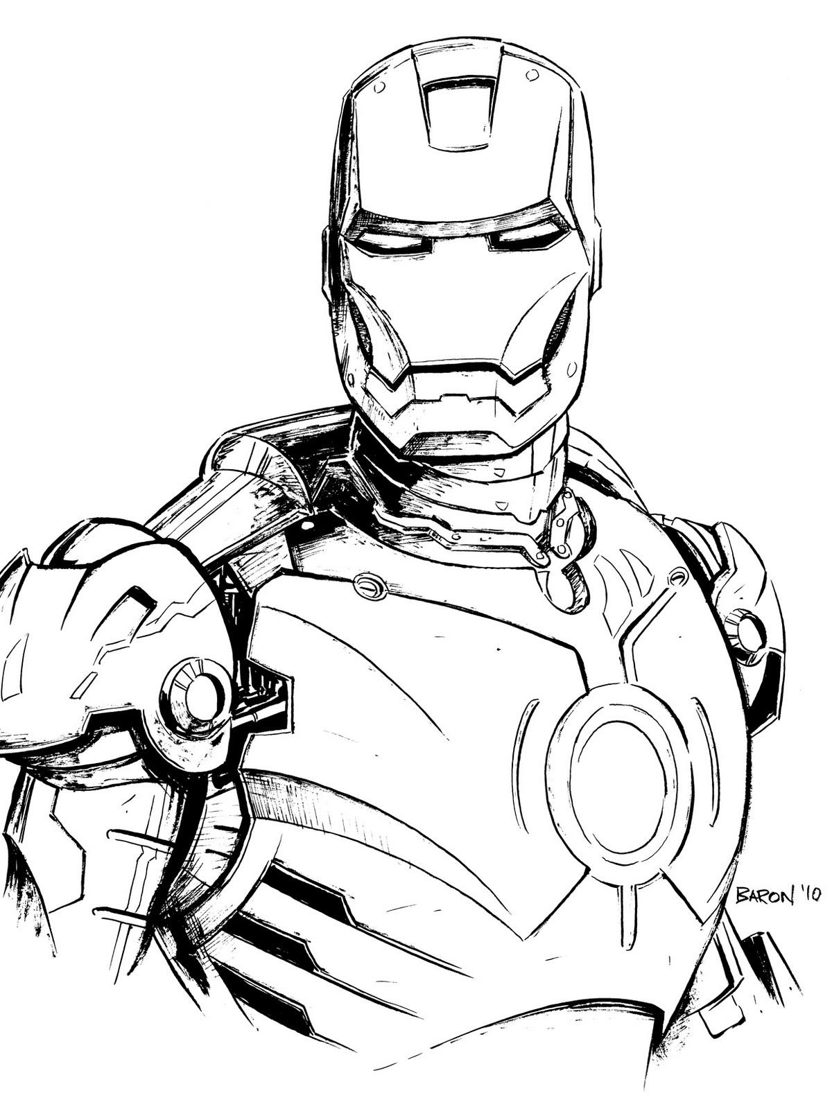 92 dibujos de Iron man para colorear | Oh Kids | Page 6