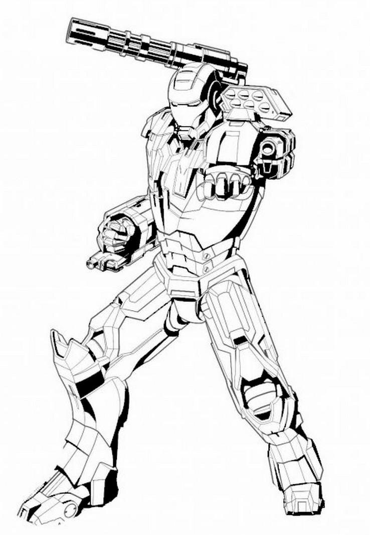 92 Dibujos De Iron Man Para Colorear Oh Kids Page 9